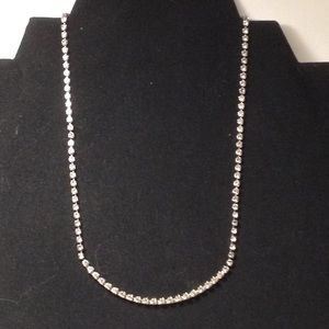 Vintage rare necklace with clear rhinestones